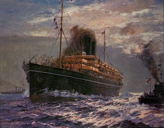 RMS Medina (1911) - Painting by Kenneth King