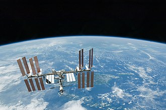 Micro-g environment - The International Space Station in orbit around Earth, February 2010. The ISS is in a micro-g environment.