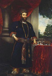 Saadat Ali Khan II fifth nawab wazir of Oudh, India