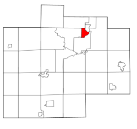 Saginaw County Michigan townships Carrollton highlighted.png