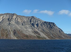 Arctic Cordillera - Folded rock in the Torngat Mountains
