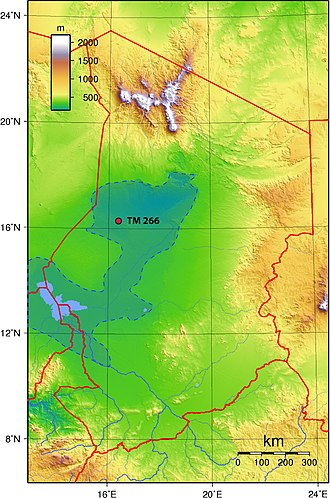 History of Chad - Location of Sahelanthropus tchadensis find in 2002.