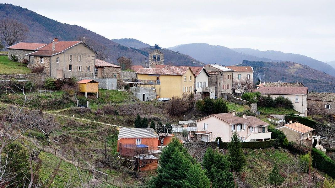 Saint-Michel-d'Aurance depuis la route du pialon (D264a)