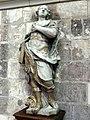 Saint-Quentin (02), basilique St-Quentin, grand croisillon nord, statue de saint Quentin, attribuée à Bouchardon, XVIIIe siècle.jpg