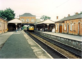 Sale tram stop - In 1988, as a British Rail station