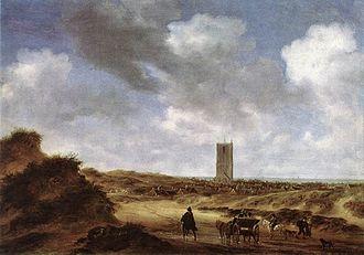 Jacob van Ruisdael - A View of Egmond aan Zee (1640) by Salomon van Ruysdael