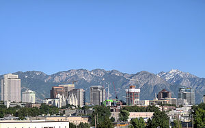 Downtown Salt Lake City in June 2009