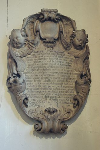 Samuel Cooper - Samuel Cooper's grave, Old St Pancras Church, London
