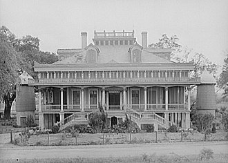 San Francisco Plantation House - Image: San Francisco Plantation House 1938