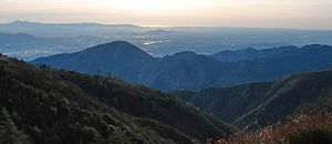 View of San Bernardino Valley to Pacific Ocean