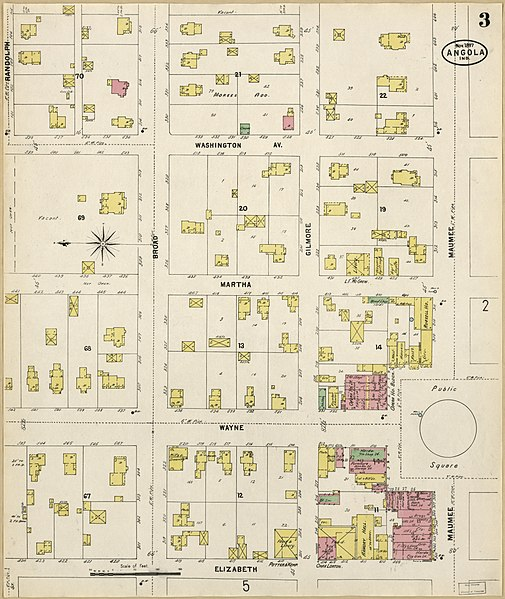 Steuben County Indiana Map.File Sanborn Fire Insurance Map From Angola Steuben County Indiana