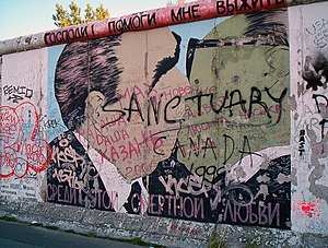 East Side Gallery - Condition of the mural in 2005