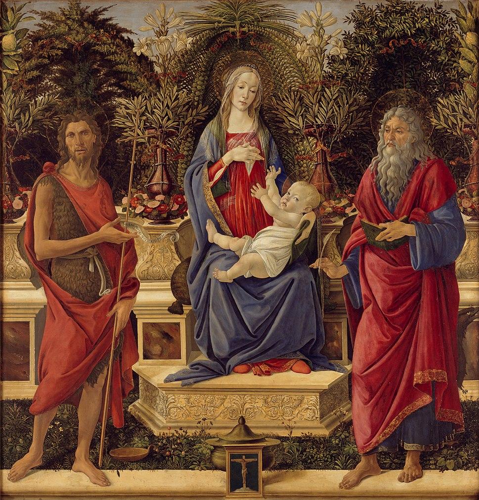 Sandro Botticelli - Madonna with Saints - Google Art Project