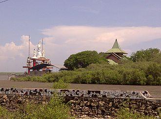 Sanggar Agung - Sanggar Agung Temple surrounded by mangrove