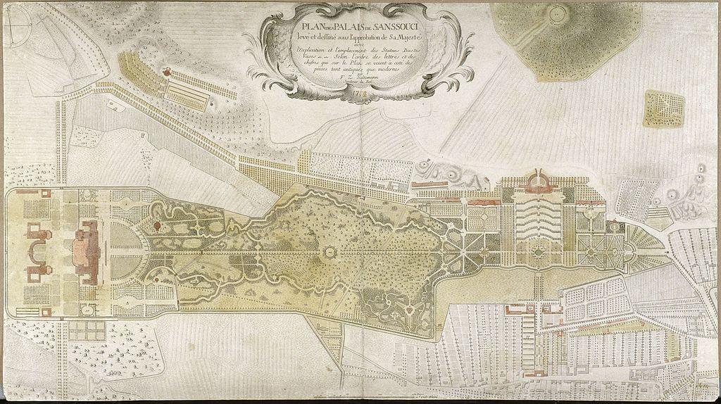 Park Sanssouci Karte Saltzmann-Plan 1772)
