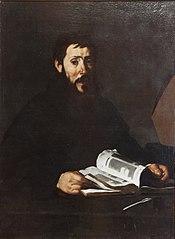 Sant'Agostino che sfoglia un libro