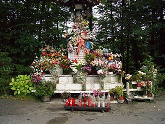 Patronage of the Blessed Virgin Mary - Virgin Mary, venerated as the patron saint of bicyclists, near Leintz-Gatzaga in the Basque Country
