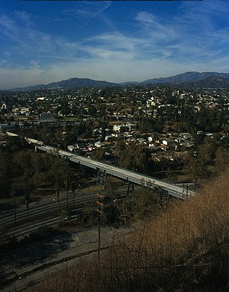 Santa Fe Arroyo Seco Railroad Bridge - Image: Santa Fe Arroyo Seco Railroad Bridge aerial
