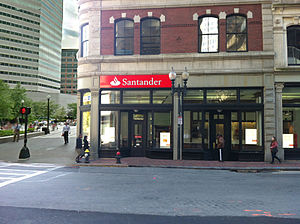 Santander Bank - Santander Bank, Summer Street, Boston