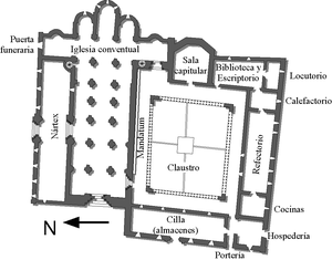 Abbey of Santo Domingo de Silos - Plan of monastery