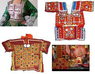 Kurti top - Image: Saraiki children wearing cloths & saraiki Fashion ofr children