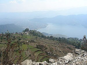 Sarankot, overlooking Pokhara and lake.
