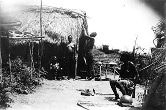 Congo–Ocean Railway - Forced labour family camp, located near Les Saras, during construction in 1930
