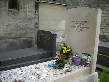 The grave of Jean-Paul Sartre and Simone de Be...