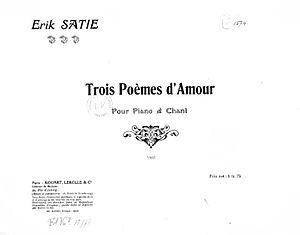 Trois poèmes d'amour - Cover for the original edition of the Trois poèmes d'amour (1916)