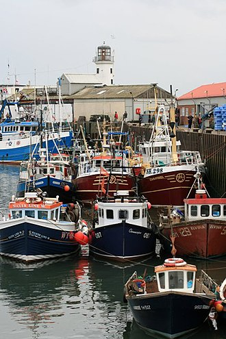 Fishing fleet - Part of the local fishing fleet moored in the harbour of Scarborough, England