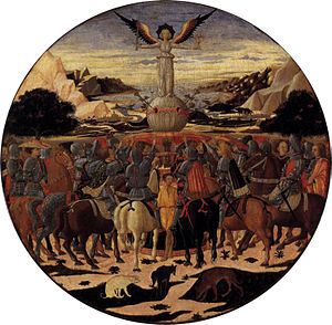 Lucrezia Tornabuoni - Triumph of Fame desco da parto by Giovanni di ser Giovanni Guidi