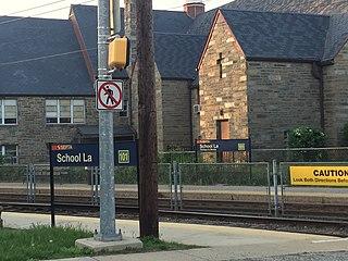 School Lane station SEPTA trolley station