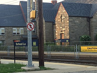School Lane station - School Lane station 2017