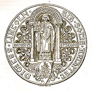 Society for Lincolnshire History and Archaeology - Seal of the Lincolnshire Diocesan Architectural Society engraved by Orlando Jewitt