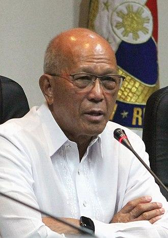 Secretary of National Defense (Philippines) - Image: Secretary Delfin Lorenzana dec 2018 (cropped)