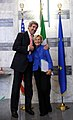 Secretary Kerry and Italian Foreign Minister Bonino Pose for a Photo.jpg
