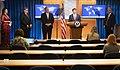 Secretary Pompeo, Secretary Esper, Attorney General Barr, and National Security Advisor O'Brien Hold a Press Availability (49995161501).jpg