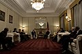 Secretary of Defense, Chuck Hagel, meets with Afghan president Hamid Karzai.jpg