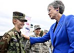 Secretary of the Air Force Heather Wilson encourages Wisconsin Civil Air Patrol Cadet Hamilton.jpg