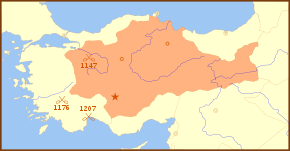 Seljuk Sultanate of Rum 1190 Locator Map.svg