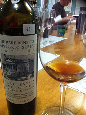 Madeira wine - A dry Madeira made from the Sercial grape.