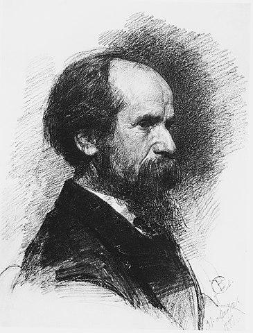 В. Серов. Портрет П.П.Чистякова. 1881