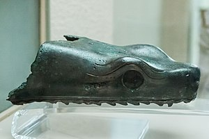Serpent Column - A part of one of the heads is today in the Istanbul Archaeology Museum
