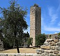 Serravalle Pistoiese, rocca nuova (rocca di Castruccio), torre esagonale 06.jpg