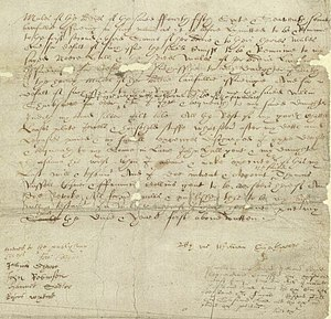 Shakespeare's handwriting - William Shakespeare's will, written in a style of handwriting known as the secretary hand.