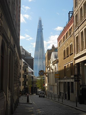The Shard - The Shard pictured from Great Tower Street in April 2