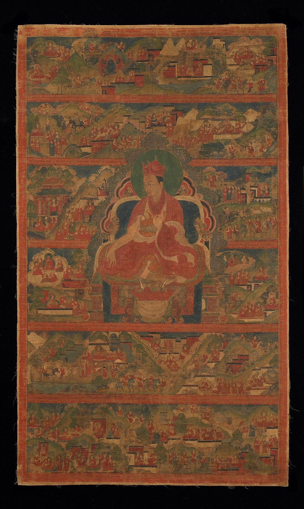 Sharmapa Lama, Chodag Yeshe Palzang, the 4th Shamar Rinpoche (1453-1554) - Google Art Project