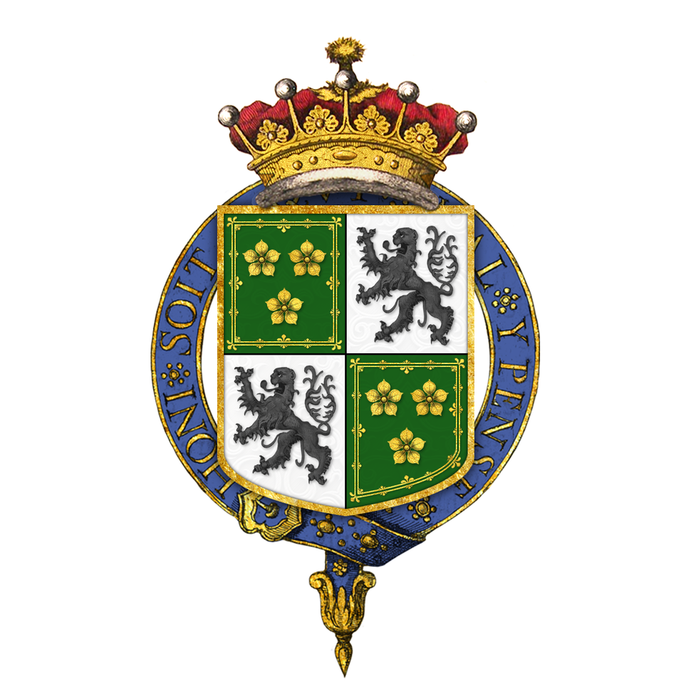 Shield of arms of Archibald Primrose, 5th Earl of Rosebery, KG, KT, PC, FRS, FBA