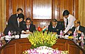 Shivraj V. Patil and the Minister of Public Security of Vietnam, General Le Hong Anh signing the Memorandum of Understanding for bilateral cooperation in security matters between India-Vietnam, in New Delhi on March 24, 2008.jpg