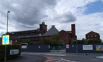 Ditherington Flax Mill - Image: Shrewsbury Flaxmill Maltings north east side June 2013
